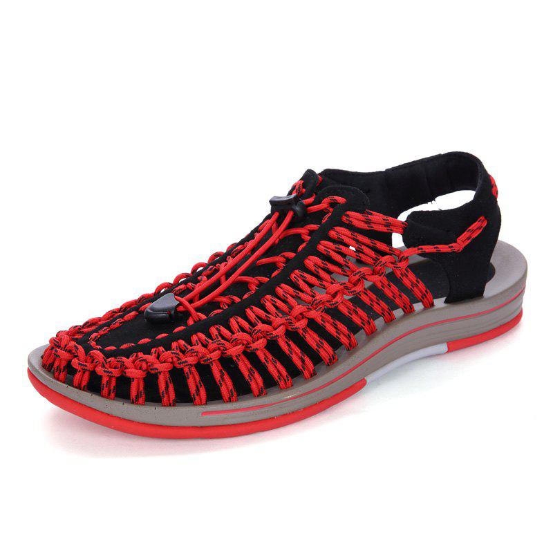 Trendy Men Large Size Hand-Woven Outdoor Beach Sandals