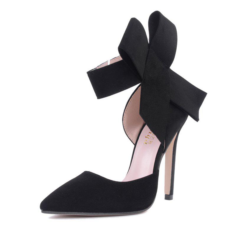 Online Women's Pointed Toe Stiletto High Heels Sweet Party Pumps with Bow