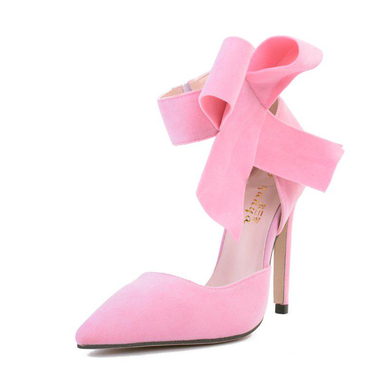 Hot Women's Pointed Toe Stiletto High Heels Sweet Party Pumps with Bow