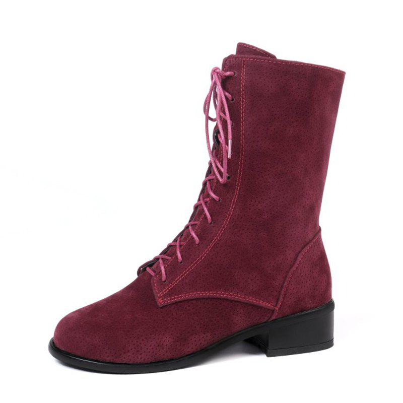 Sale Autumn and Winter Fashion Front with Low Heel Square with Short Boots  Round Head f8db48f97c2f