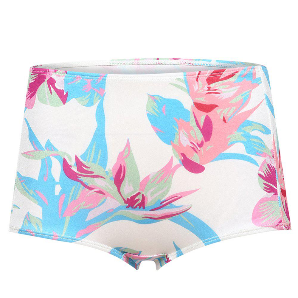 Affordable MISSOMO Fashion Sexy High Waist Flowers Bikini Panties