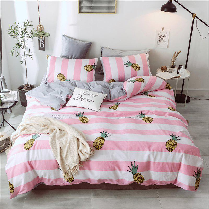 Shop Cotton and Wool Bedding Sets King Size Pineapple