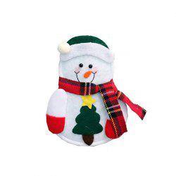 Cutlery Suit Silverware Forks Bag Claus Snowman Shaped Christmas Party Decoratio -