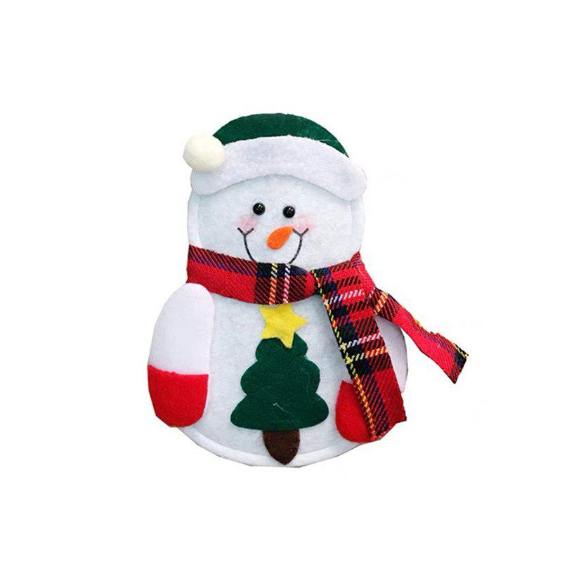 Shops Cutlery Suit Silverware Forks Bag Claus Snowman Shaped Christmas Party Decoratio