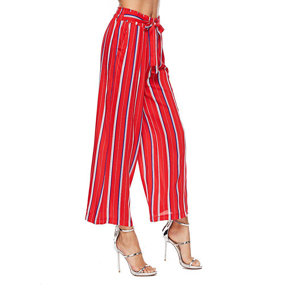 Cheap 2018 Autumn New European American Women'S Lace-Up Tie Casual Wide-Leg Pants