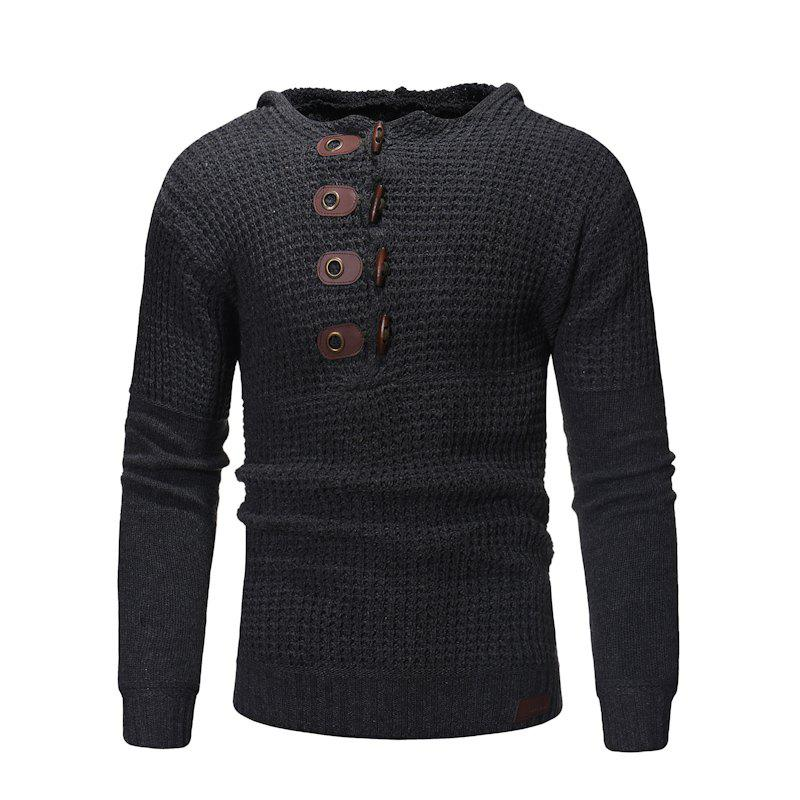 Affordable 2018 New Men'S Slim High Quality Hooded Solid Color Sweater Sweater