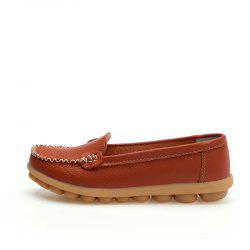 Real Leather Mommy Shoes Soft Soles Casual Shoes Flat Bottoms -