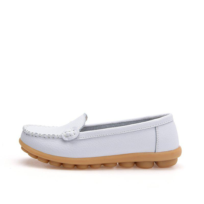 Unique Real Leather Mommy Shoes Soft Soles Casual Shoes Flat Bottoms