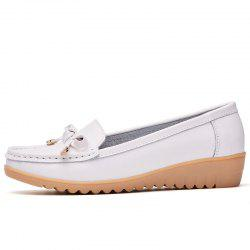 Comfortable Leather Shoes Soft Bottom Antiskid Bean Shoes -