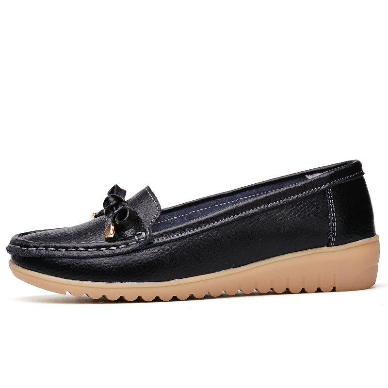 Shops Comfortable Leather Shoes Soft Bottom Antiskid Bean Shoes