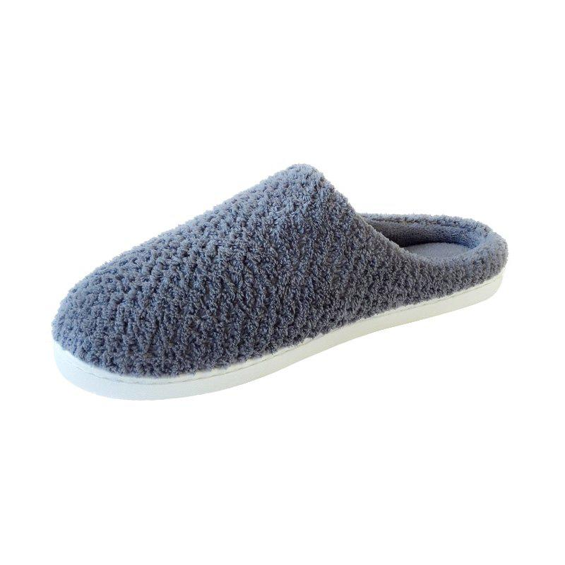 Cheap Home Story Non-Slip Thick Plush Warm Cotton Slippers