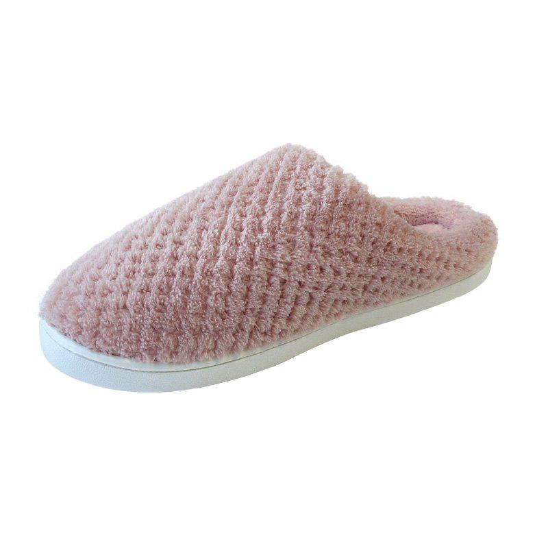 Hot Home Story Non-Slip Thick Plush Warm Cotton Slippers