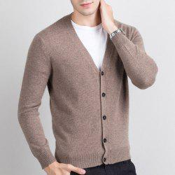 Autumn and Winter Men's Cashmere Sweater Trend New V Collar Wear Sweater -