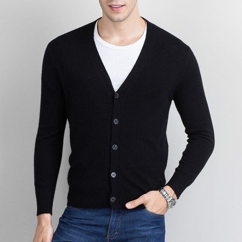 Outfit Autumn and Winter Men's Cashmere Sweater Trend New V Collar Wear Sweater