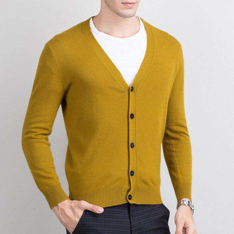Sale Autumn and Winter Men's Cashmere Sweater Trend New V Collar Wear Sweater