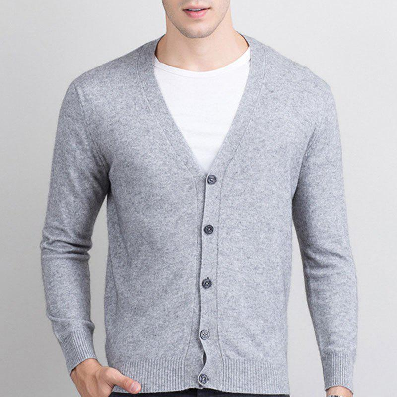 Online Autumn and Winter Men's Cashmere Sweater Trend New V Collar Wear Sweater