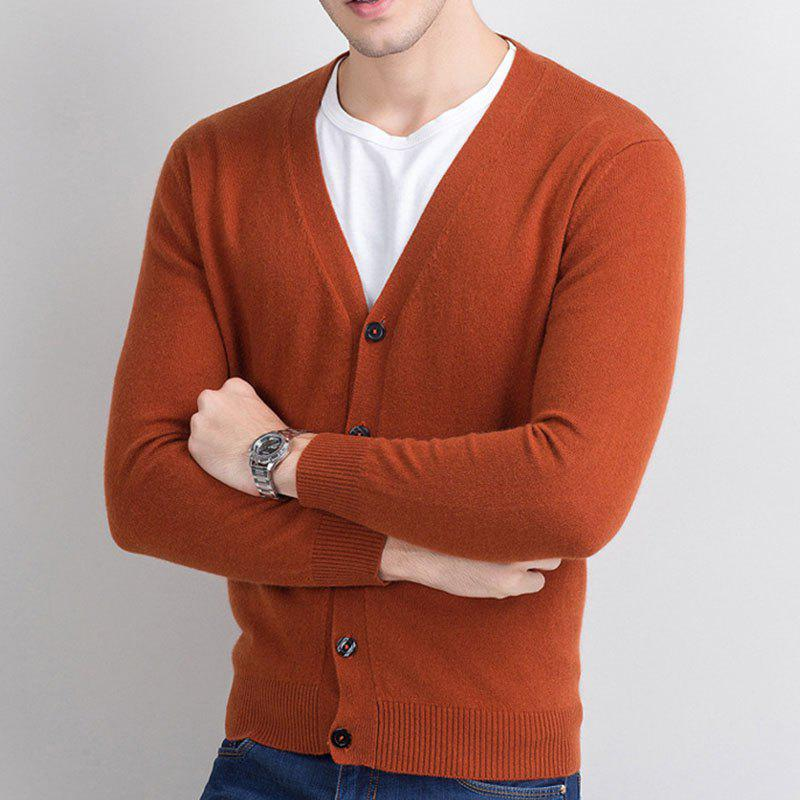 Latest Autumn and Winter Men's Cashmere Sweater Trend New V Collar Wear Sweater