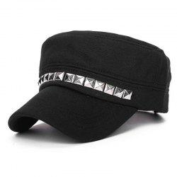 Rivet flat top cap + adjustable size (56-59) CM -