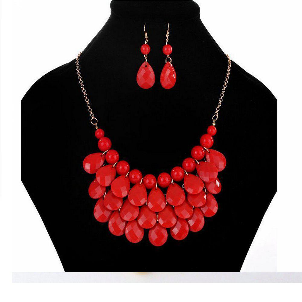 Collier de costume de mode coloré Rouge