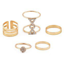 Women'S Popular New Personality Diamond Ring Five Combinations -