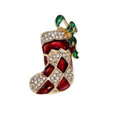 New Christmas Christmas Brooch Christmas Stockings Diamond Socks Pin -