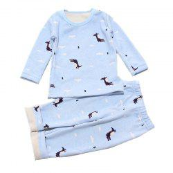 Baby 2PCS Pajamas Suit Simple Style Long-Sleeved Comfortable Home Clothes -