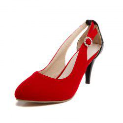 Single Pointed Shoes with High Heels and Sexy Hollows -