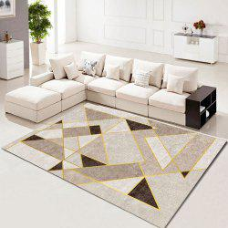 Bedroom Floor Mat Nordic Style Geometric Printed Soft Washable Carpet -
