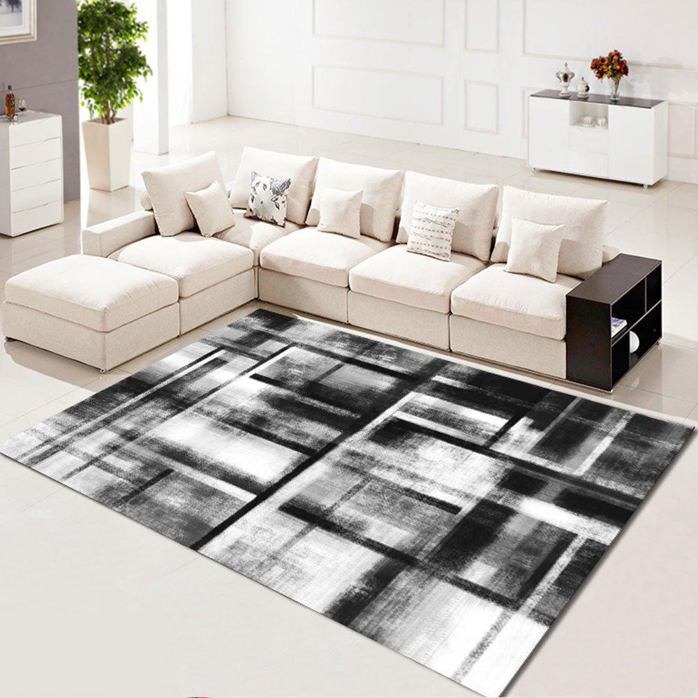 2019 Living Room Floor Mat Modern Brief Style Color Block Soft