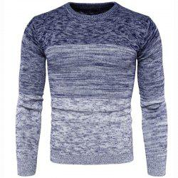 Men's Basic Long Sleeve Slim Pullover Solid Colored Color Block  Patchwork -