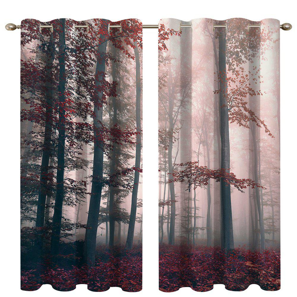 Shop Mysterious Forest Digital Printing High Precision Black Silk Blackout Curtains