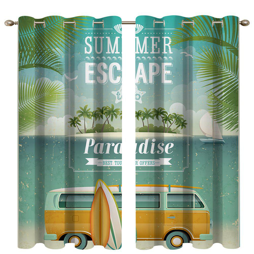 Cheap Coconut Car Digital Printing High Precision Black Silk Blackout Curtains