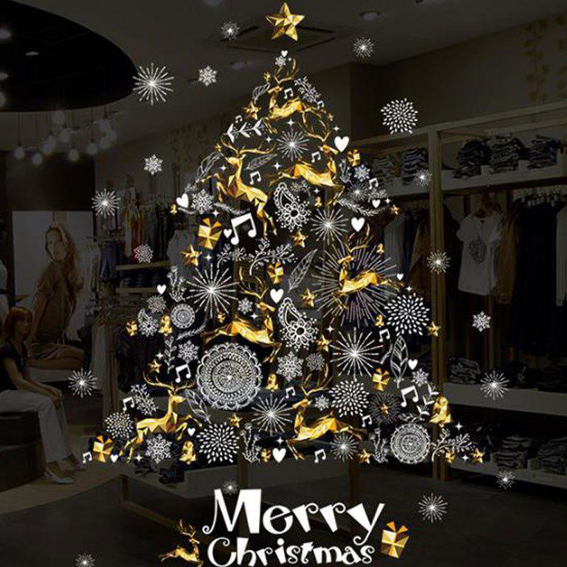 Fashion Since The Christmas Wall Stick Sliding Door Window Decals Stick Christmas Trees