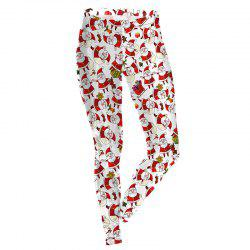 Christmas Santa Claus Pattern Decoration Costume Women Sport Leggings -