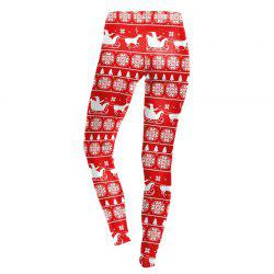 Costume De Décoration De Cerf De Noël Leggings Sport -