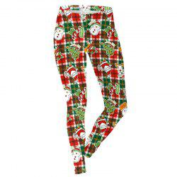 Christmas Snowman Pattern Costume Clothes Sport Leggings for Women -