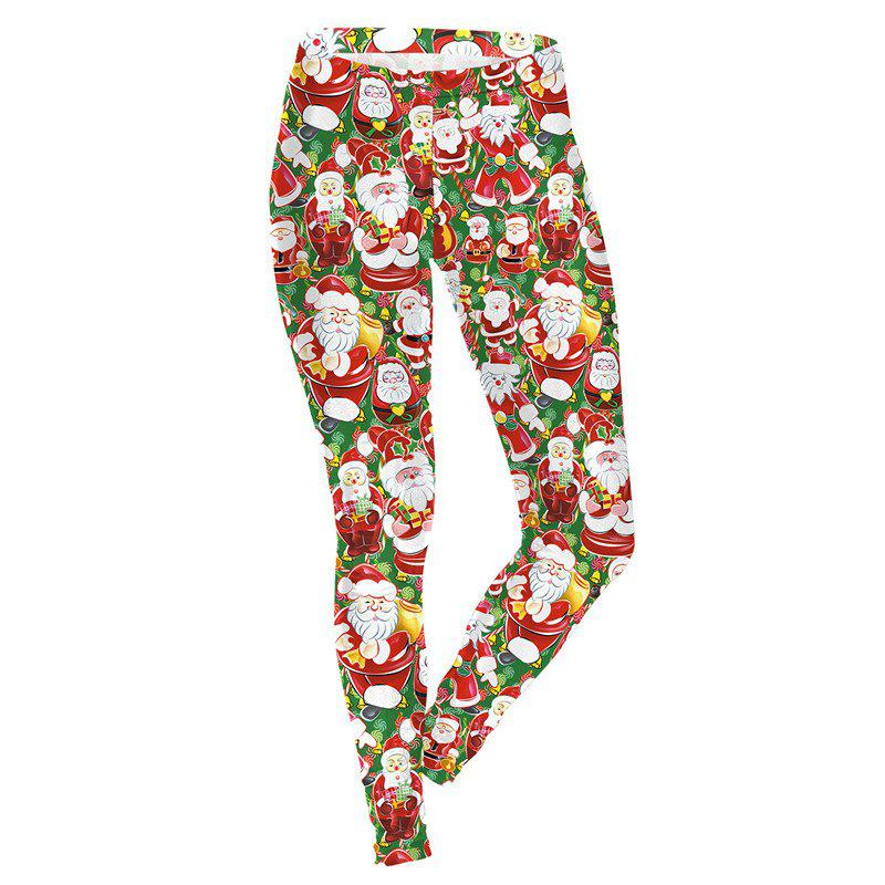 Outfits Christmas Santa Claus Pattern Costume Women Sport Leggings