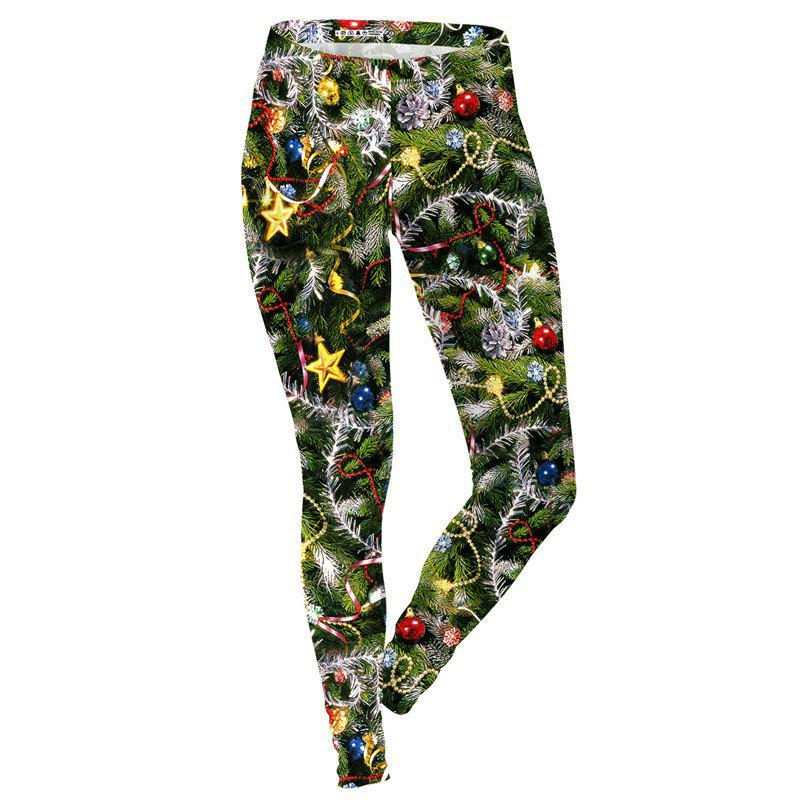 Outfit Christmas Tree Pattern Costume Clothes Women Sport Leggings