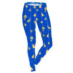 Christmas Costume Snow Pattern Clothes Women Sport Leggings -