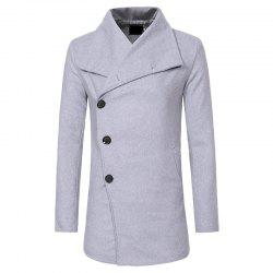 Men's Fashion Single-breasted Casual Slim Woolen Trench Coat -