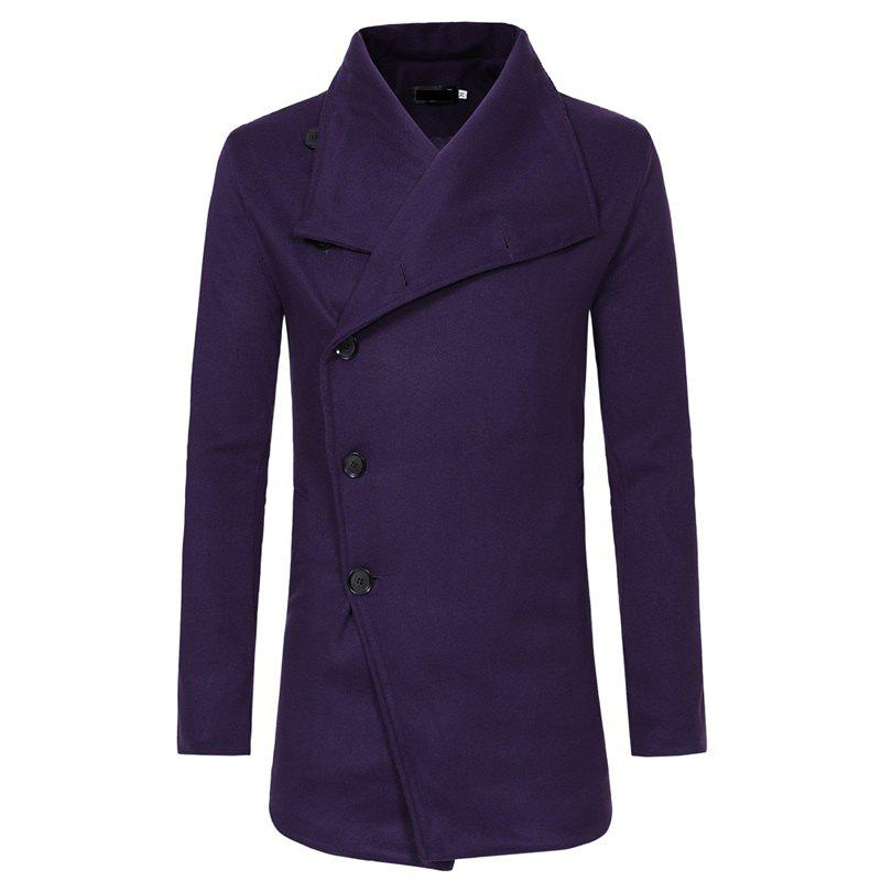 Store Men's Fashion Single-breasted Casual Slim Woolen Trench Coat