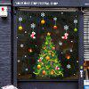 Christmas Snow Tree Showcase Glass Is Stuck Cartoon Door Post Wall Stickers -