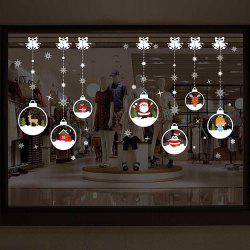 Various Christmas Window Stickers Removable Waterproof Decorative Wall Stickers -