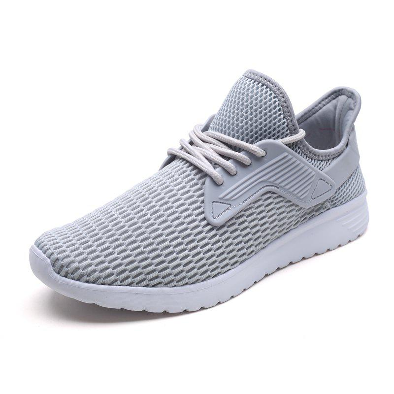 Discount Men Large Size Mesh Cloth Light Breathable Sports Casual Running Shoes
