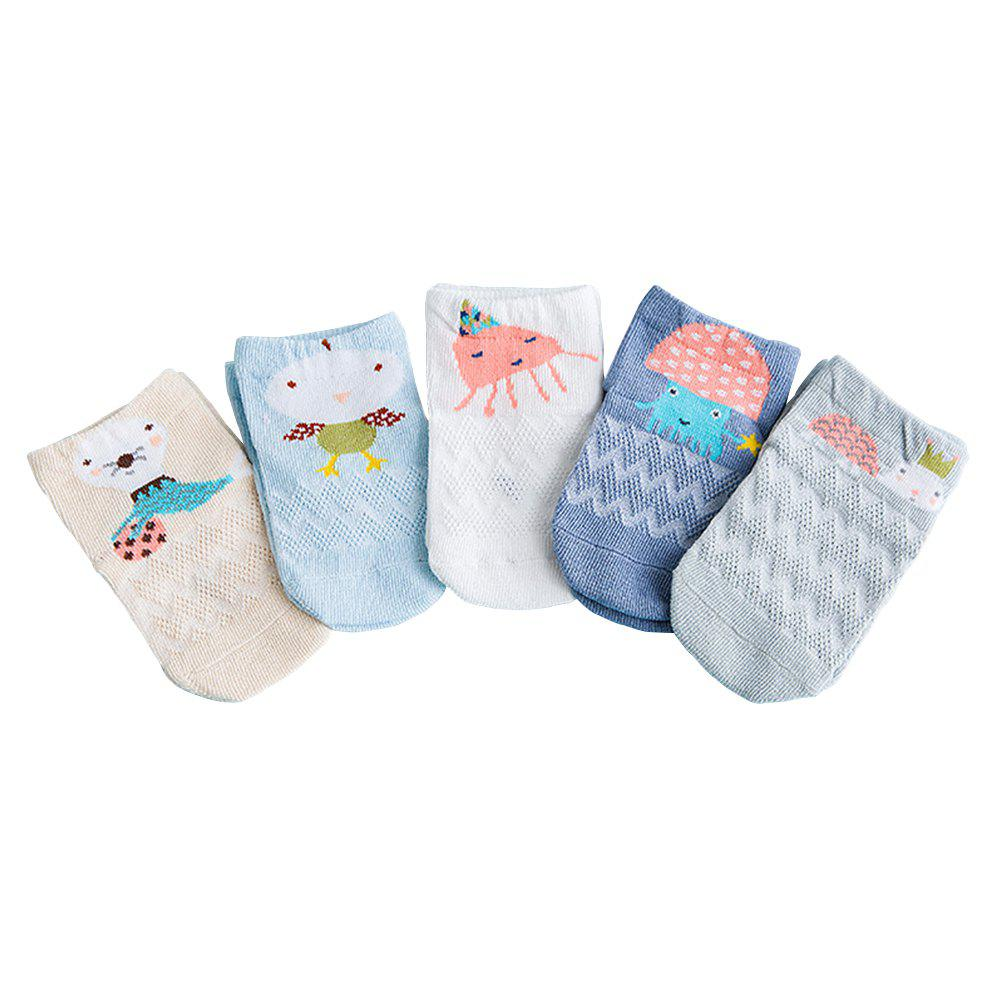 New 5 Pairs of Mesh Cotton Breathable Sweat-Absorbent Children'S Socks