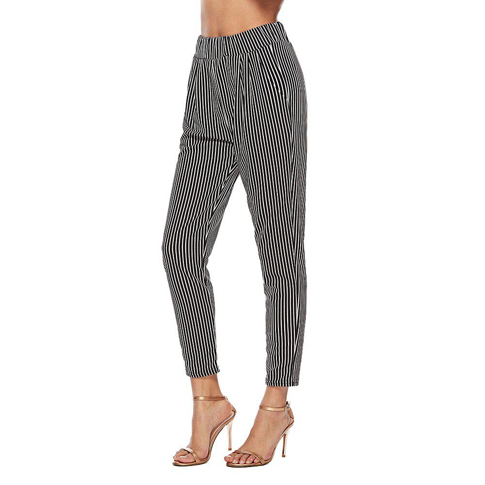 Best 2018 Europe and The United States Autumn Striped Trousers High Waist Suit Pants