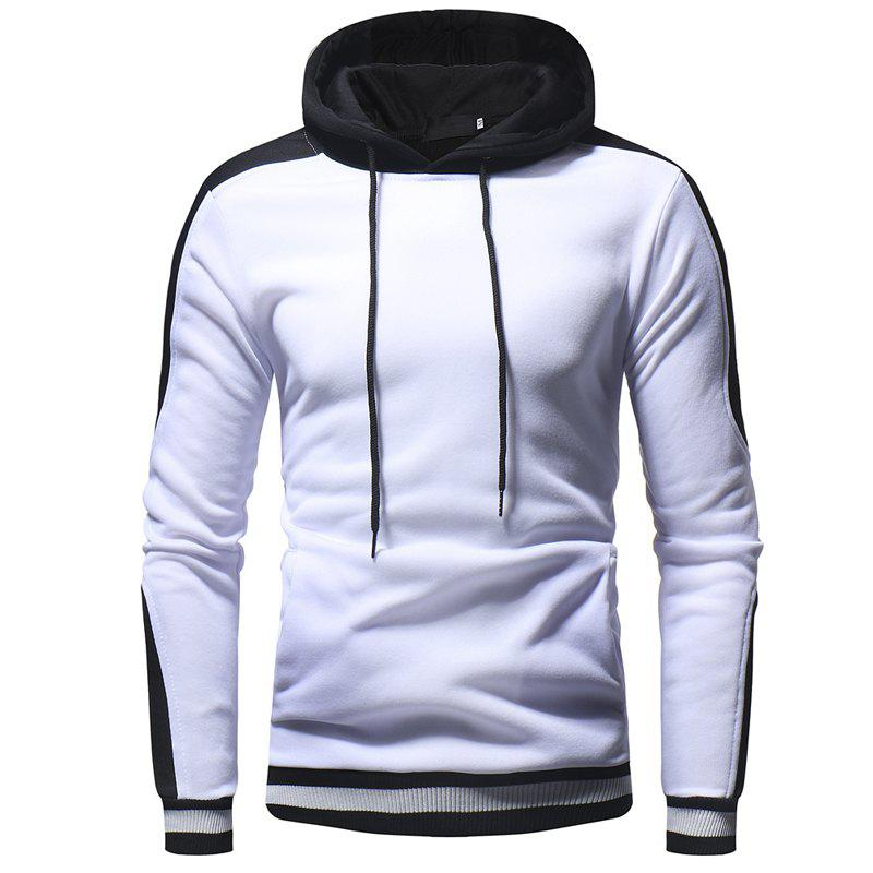 Unique 2018 New Thread Cuff Color Matching Solid Color Hooded Pullover Sweater