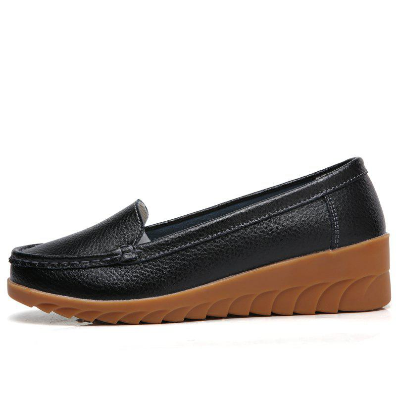 Outfit Leather Shoes Casual Shoes Big Shoes Pregnant Women Single Shoes