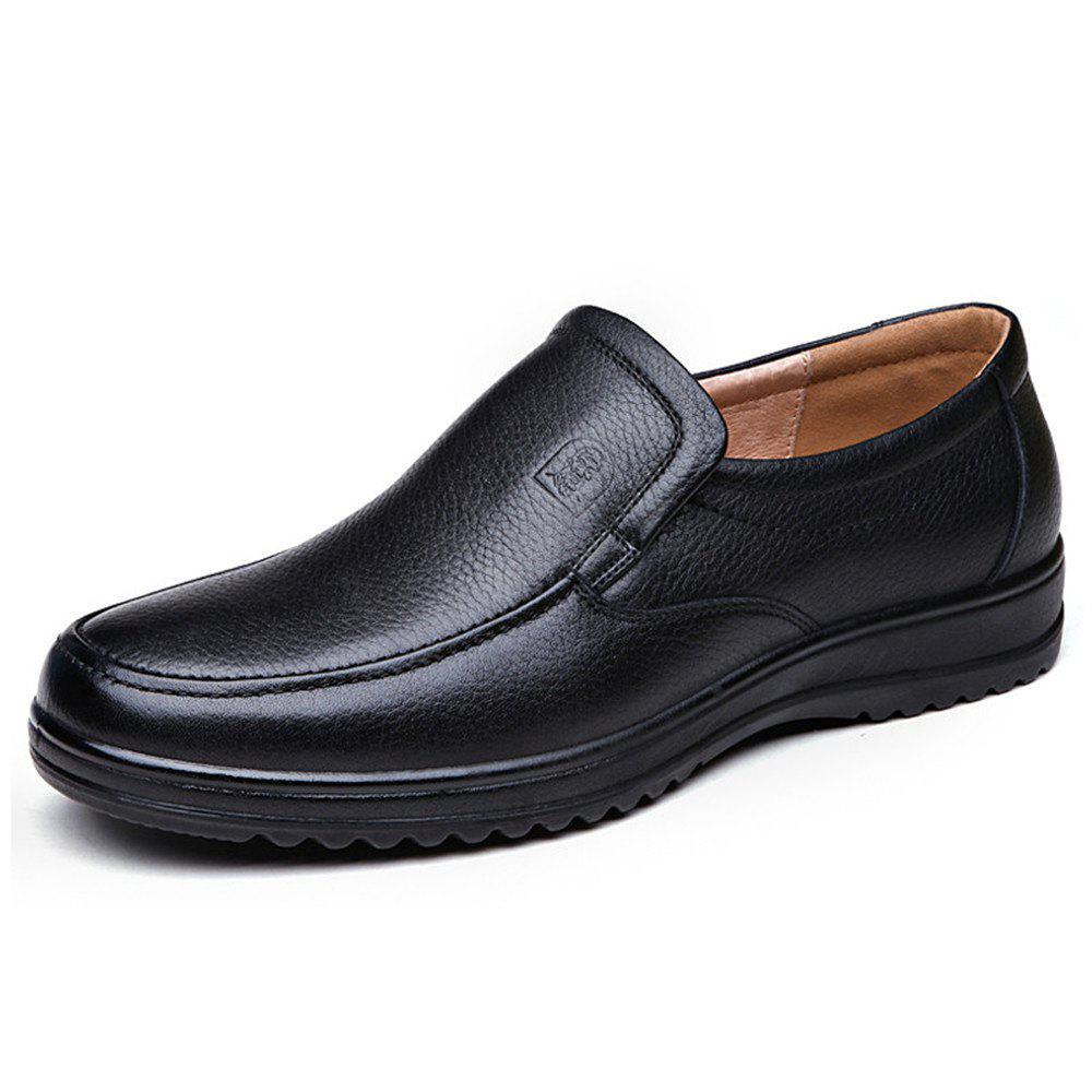 Discount Soft Leather Shoes Men Soft Bottom Middle-Aged and Old Dad Business Casual Men'S