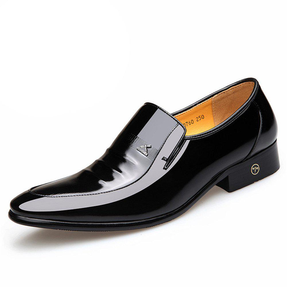 New Men'S Leather Shoes Business Suits Breathable Shoe Male Wedding Patent Leather S